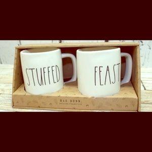 Stuffed and feast mug set by Rae Dunn